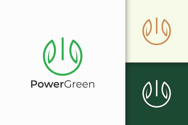 Połączenie kształtu liścia i mocy dla firmy technologicznej