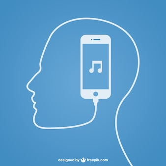 Połączenie technologii mobilnej ludzki wektor