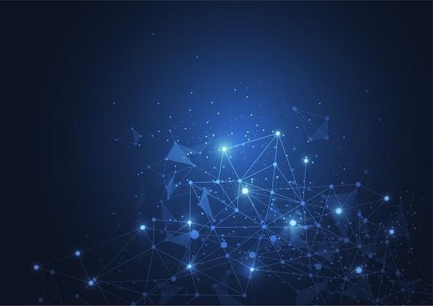 Połączenie Z Internetem, Abstrakcyjne Poczucie Nauki I Technologii Projektowania Graficznego. Premium Wektorów
