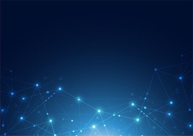 Połączenie Z Internetem Abstrakcyjne Poczucie Nauki I Technologii W Tle Graficznym Premium Wektorów