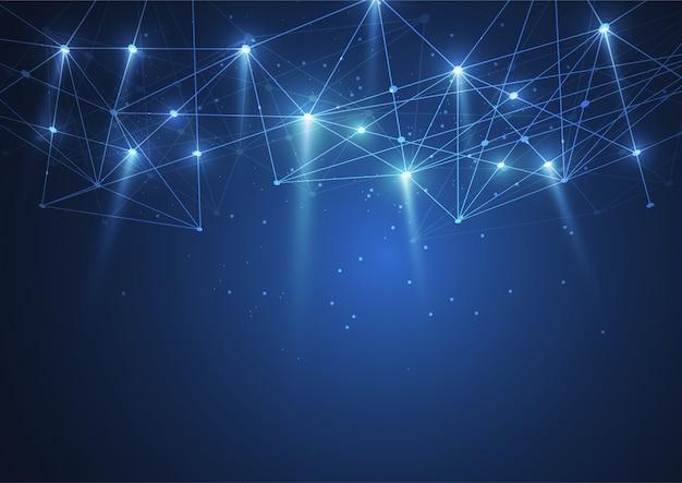 Połączenie Z Internetem, Abstrakcyjne Poczucie Nauki Premium Wektorów