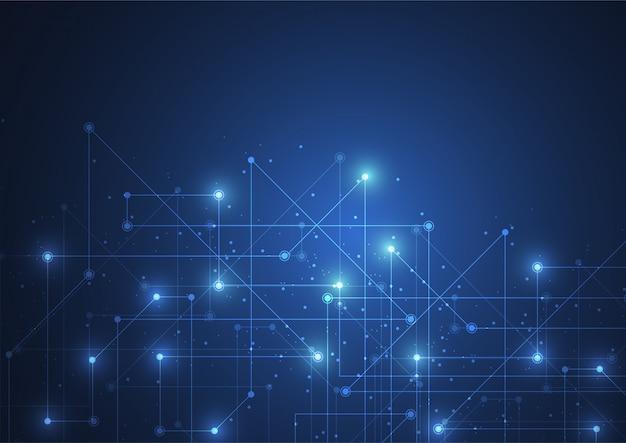 Połączenie z internetem, abstrakcyjne poczucie nauki