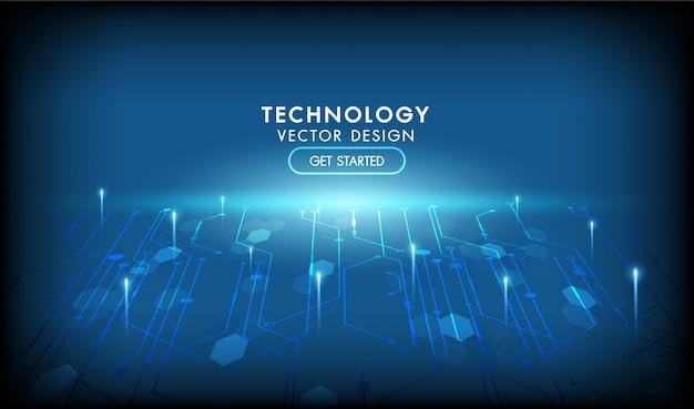 Połączenie z internetem sieci streszczenie futurystyczne tło. ilustracja wysoki komputer