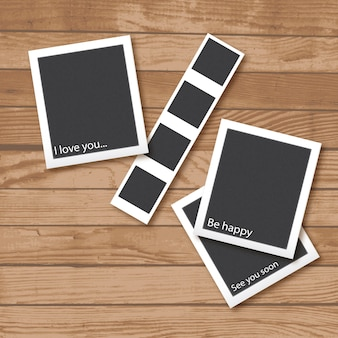 Polaroid ramki na zdjęcia kolekcji