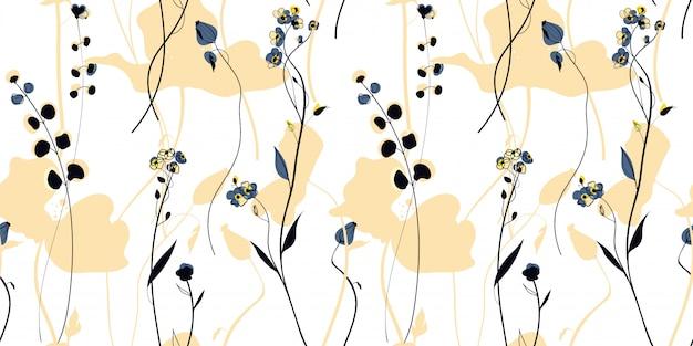 Pole dzikich roślin w stylu skandynawskim