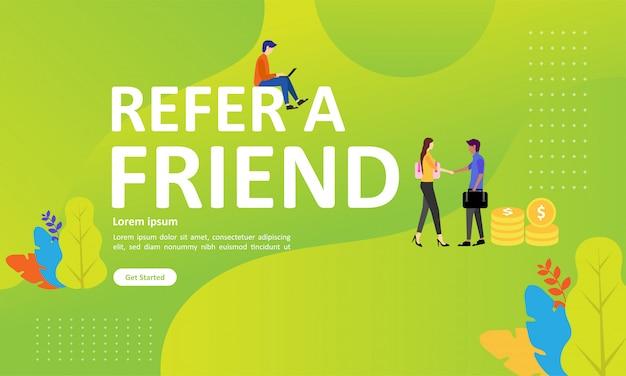 Poleć przyjacielowi projekt koncepcyjny może używać strony docelowej