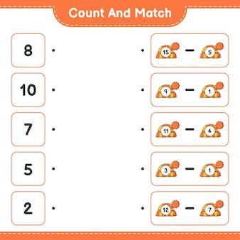 Policz i dopasuj policz liczbę kapeluszy i dopasuj odpowiednie liczby gra edukacyjna dla dzieci