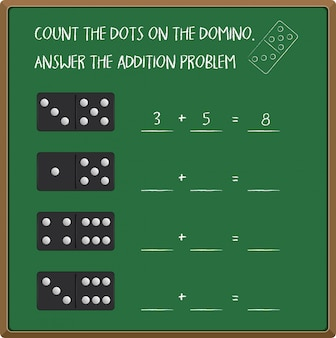 Policz liczbę z domino