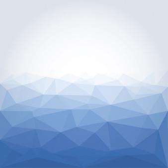 Poligonal streszczenie niebieskim tle