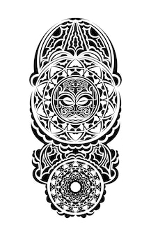 Polinezyjski tatuaż na nadgarstku nadgarstek wzór plemienny przedramię. etniczne ozdoby szablon wektor.