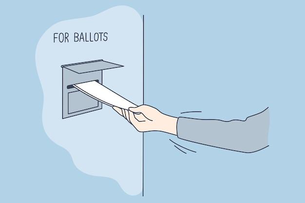 Polityka, wybory, ameryka, koncepcja głosowania.