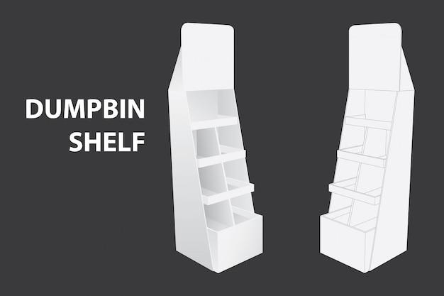 Półka dumpbin lub stojak do wyświetlania marki