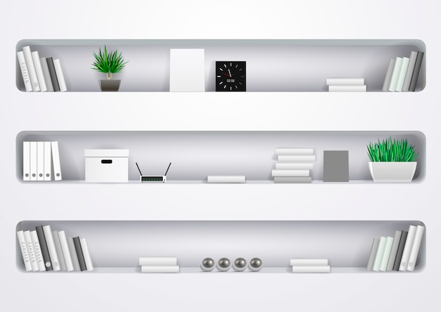Półki biuro i gabinet