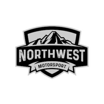 Północny zachód logo odznaka szablon godło tarcza