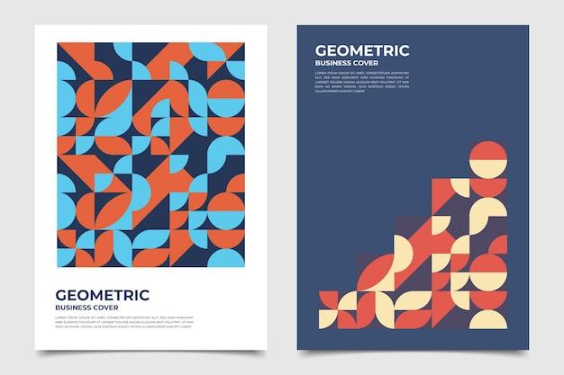 Połówki koła geometrycznej kolekcji okładek biznesowych