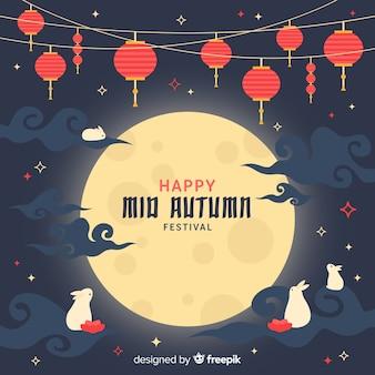 Połowy jesieni tło koncepcja festiwalu