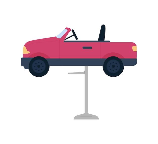 Półpłaskie krzesełko w kształcie samochodu. meble do salonu fryzjerskiego przyjazne dzieciom.