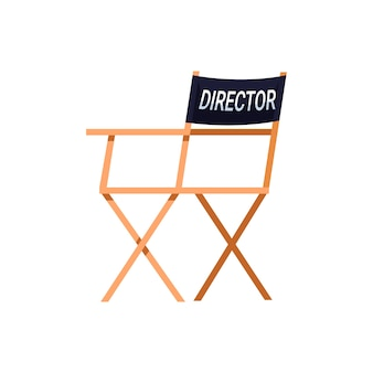Półpłaskie krzesło reżyserskie w kolorze rgb