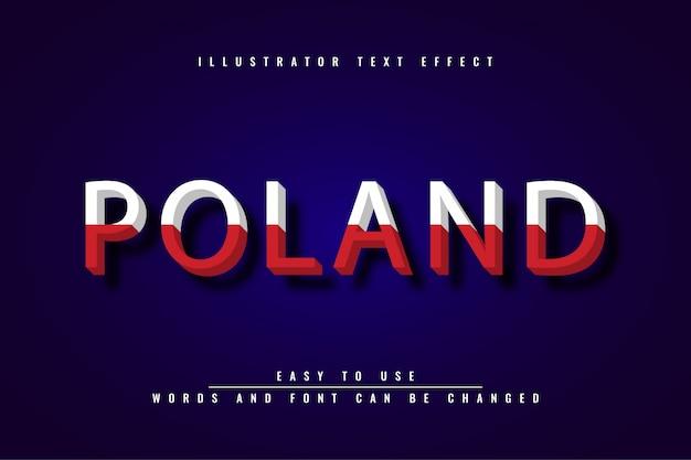 Polska - edytowalny efekt tekstu