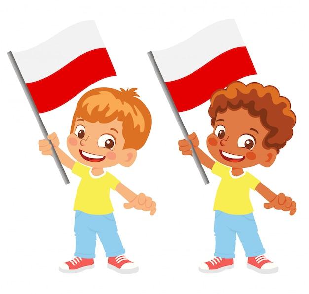 Polska flaga w zestawie ręki