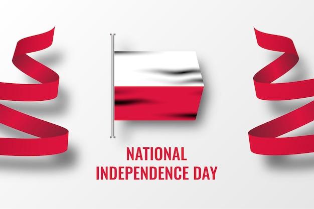Polska święto niepodległości narodowej ilustracja szablon projektu
