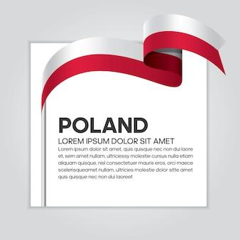 Polska wstążka flaga wektor ilustracja na białym tle