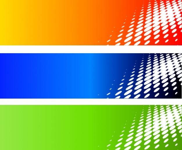 Półtonów kolorów banery ustawione