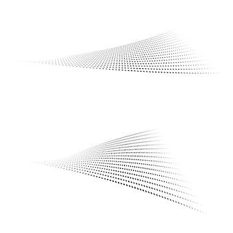 Półtonów kropki kształty na białym tle.