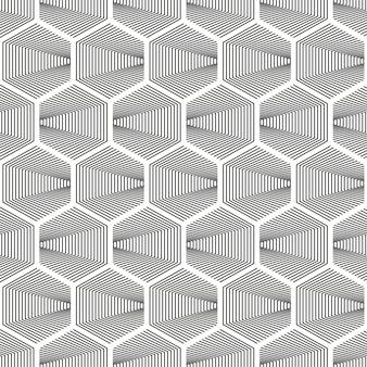 Półtonów szary wzór sześciokątny