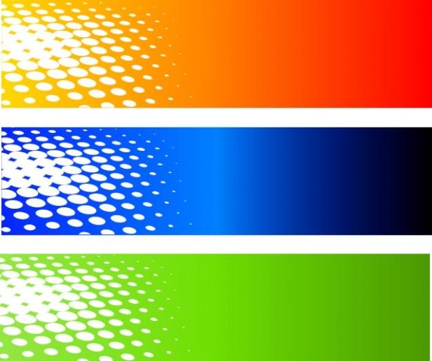 Półtonów transparenty zestaw kolorów tła