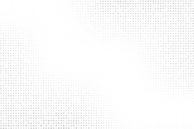 Półtony kropki na białym tle. tekstura półtonów szare kropki.
