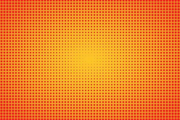 Półtony pomarańczowy retro tło. tekstura półtonów. ilustracja
