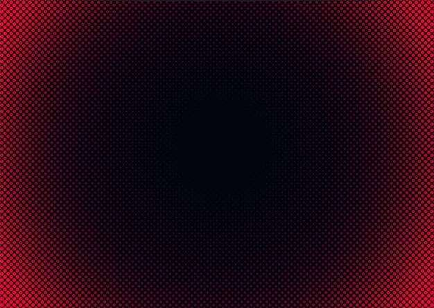 Półtony streszczenie tło z różowymi kropkami gradientu na czarnym tle.