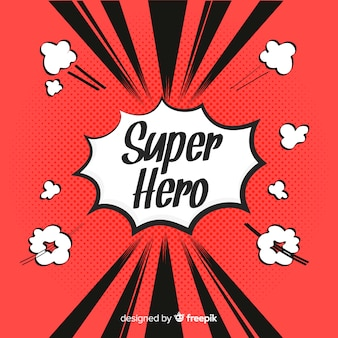 Półtony superbohatera tło