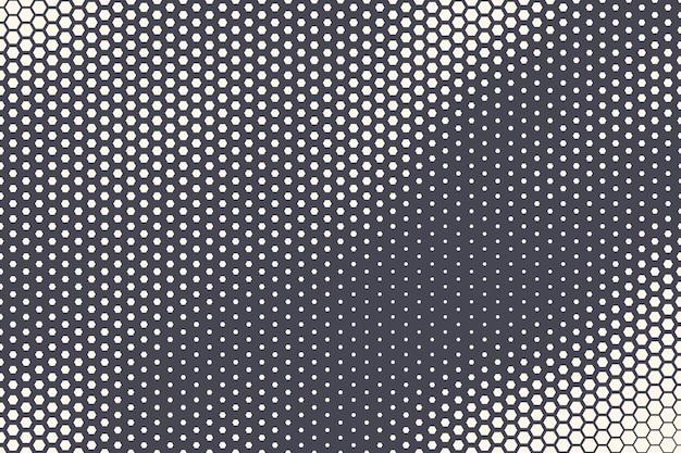 Półtony sześciokątny wzór falista tekstura streszczenie technologia geometryczna tło