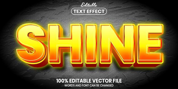 Połysk, edytowalny efekt tekstu w stylu czcionki