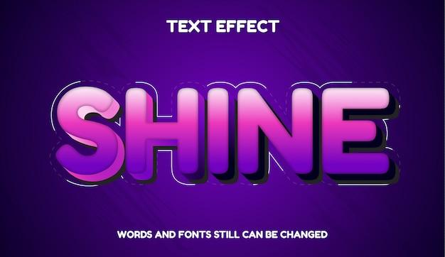 Połysk nowoczesny efekt edytowalny tekstu kolorem gradientu