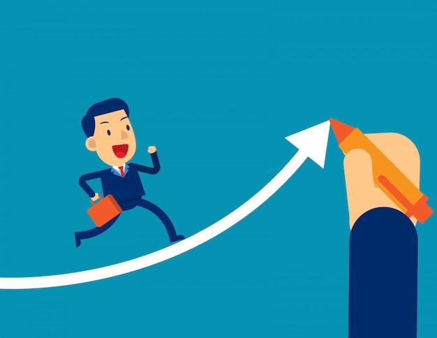 Pomaga menedżerom biznesmenów odnieść sukces