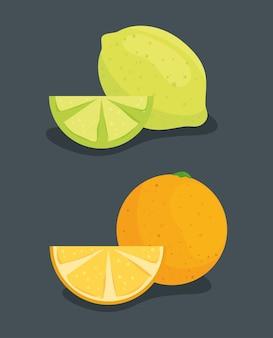 Pomarańcza z cytryną i świeżymi owocami w plasterkach