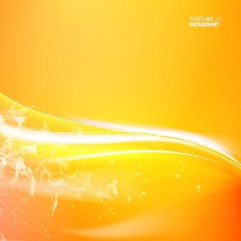 Pomarańczowa abstrakcja na tle nauki.