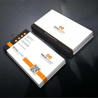 Pomarańczowa elegancka karta korporacyjna