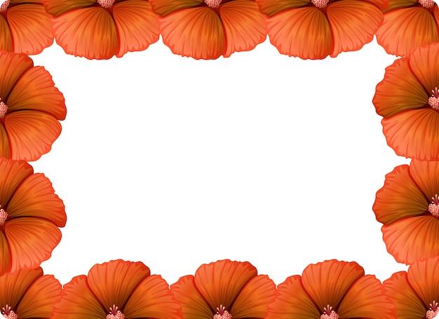 Pomarańczowa kwiat natura rama