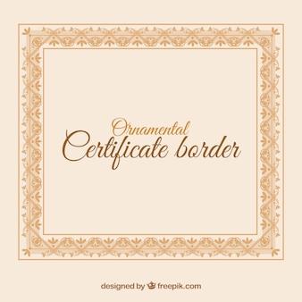 Pomarańczowa ramka certyfikatu