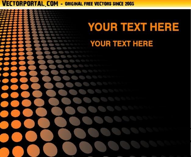 Pomarańczowe kropki na czarnym tle z copyspace