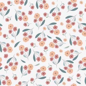 Pomarańczowe kwiaty wzór