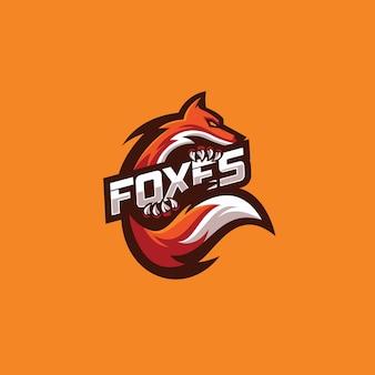 Pomarańczowe logo fox