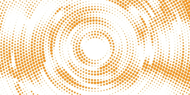 Pomarańczowe okrągłe tło półtonów
