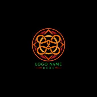 Pomarańczowe wyrafinowane logo
