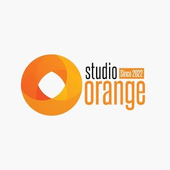 Pomarańczowe złożone logo koła