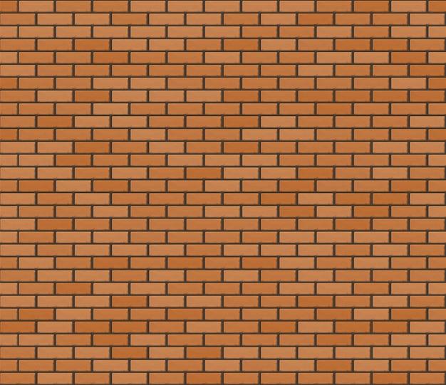 Pomarańczowo-brązowy realistyczny brickwall. bezszwowa tekstura.